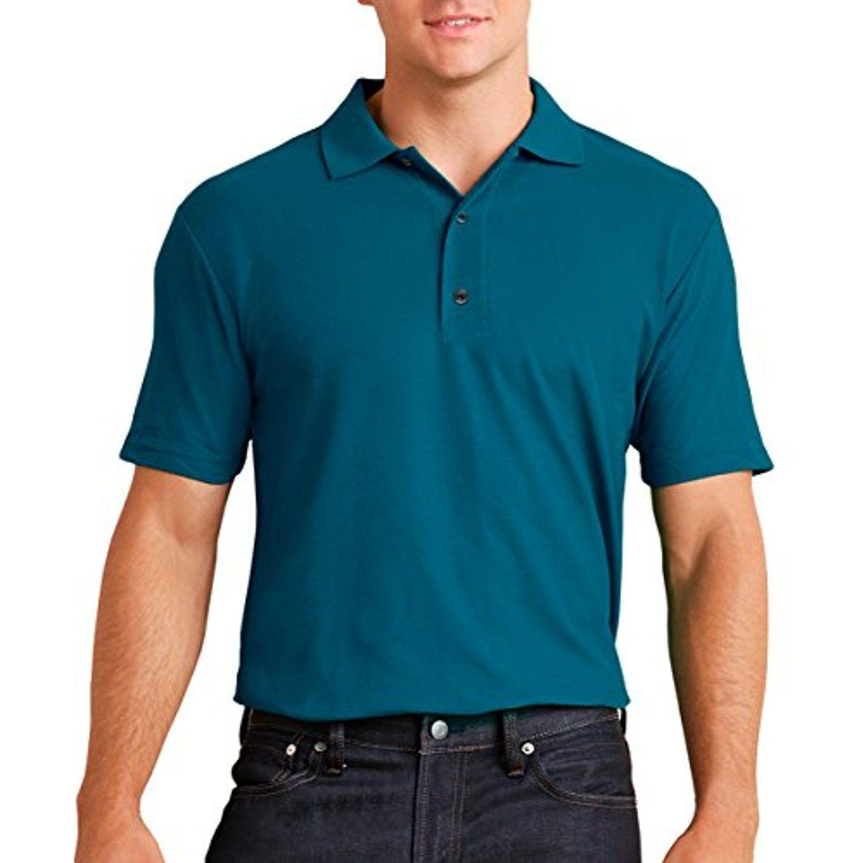Gildan Mens Antimicrobial Performance Jersey Polo Shirt