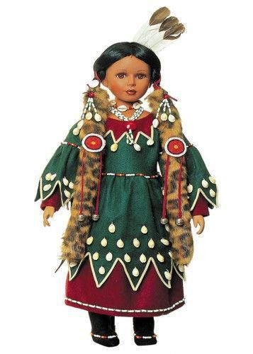 Native American doll 1 #PorcelainWomanFigurines #indianbeddoll
