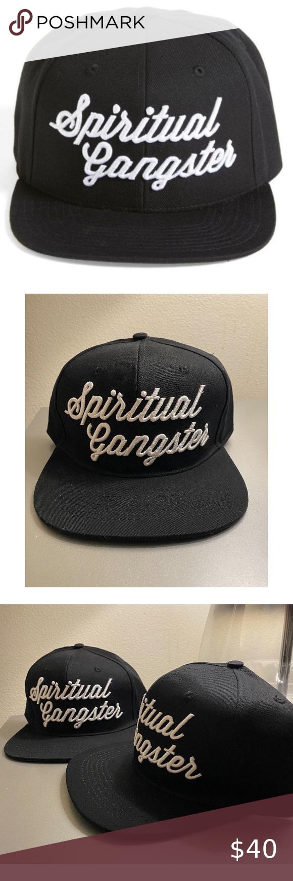 New Unisex Spiritual Gangster Black Snapback Hat Black Snapback Hats Black Snapback Snapback Hats