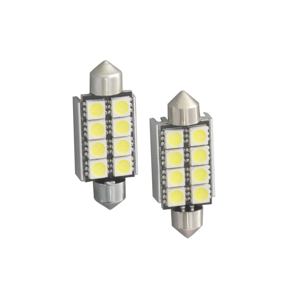 10pcs 42mm 8 Smd 5050 Led Canbus Error Free Car Festoon Dome Light Reading Lamp License Number Plate Bulb With Images Dome Lighting Car Lights Reading Lamp