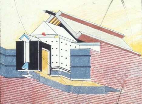 Postmodern Architecture Tv Am Television Studios London By Terry Farrell Terry Farrell Postmodernism Architecture Drawing
