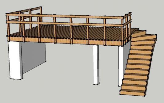 terrasse en hauteur les photos de la construction terrasse extension. Black Bedroom Furniture Sets. Home Design Ideas