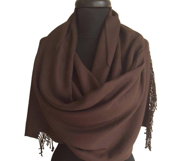 e374e8fbb04 Dark Chocolate Brown Pashmina Scarf Brown Shawl Dark Brown Dark Wrap ...