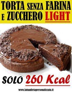 La torta al cioccolato senza farina light è un'ottima alternativa ai dessert ch…