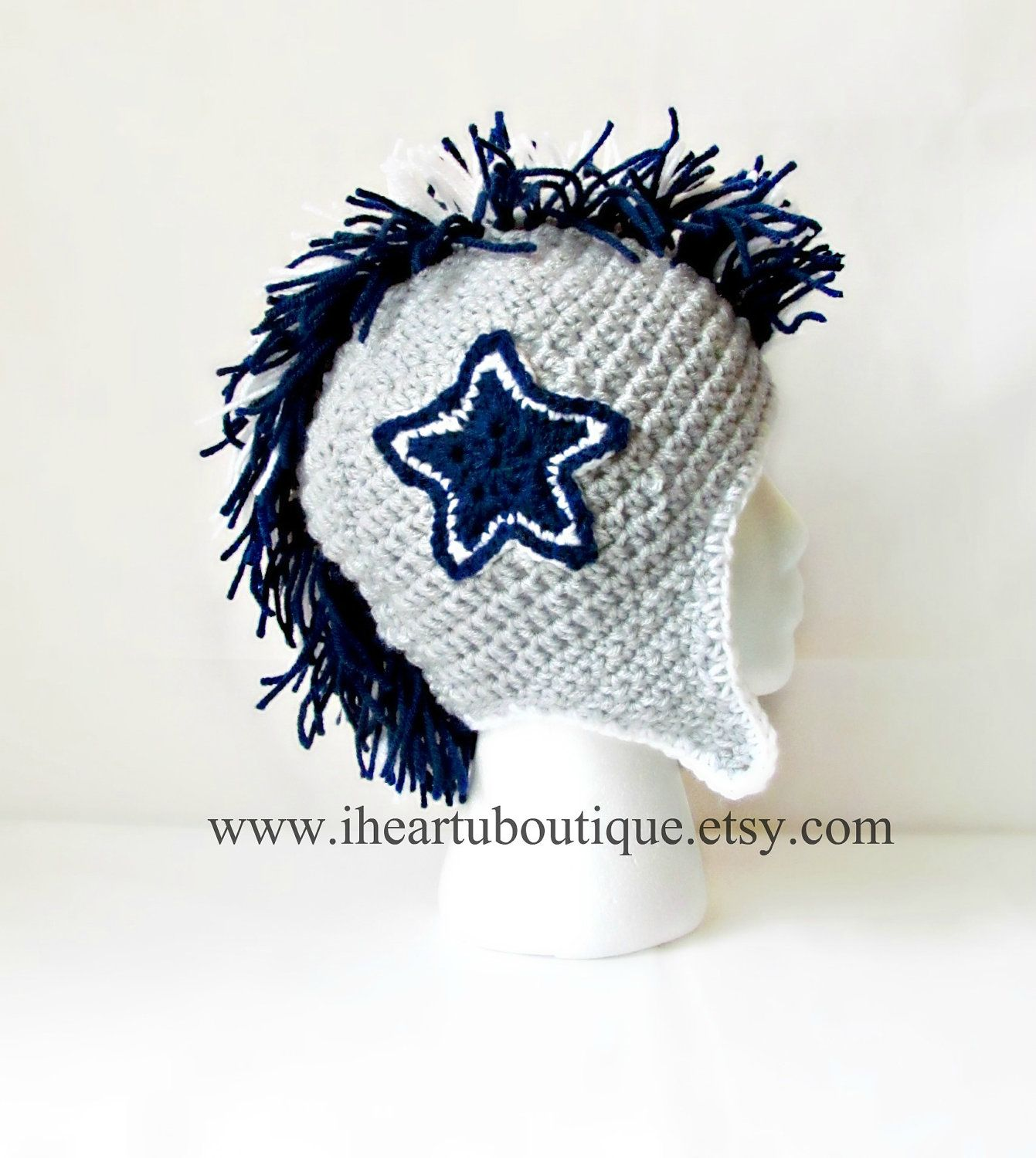 Childrens football themed mohawks by iheartuboutique on etsy