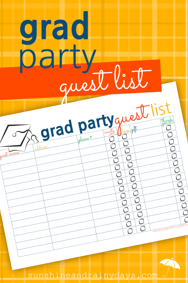 graduation party guest list pinterest guest list and party guests