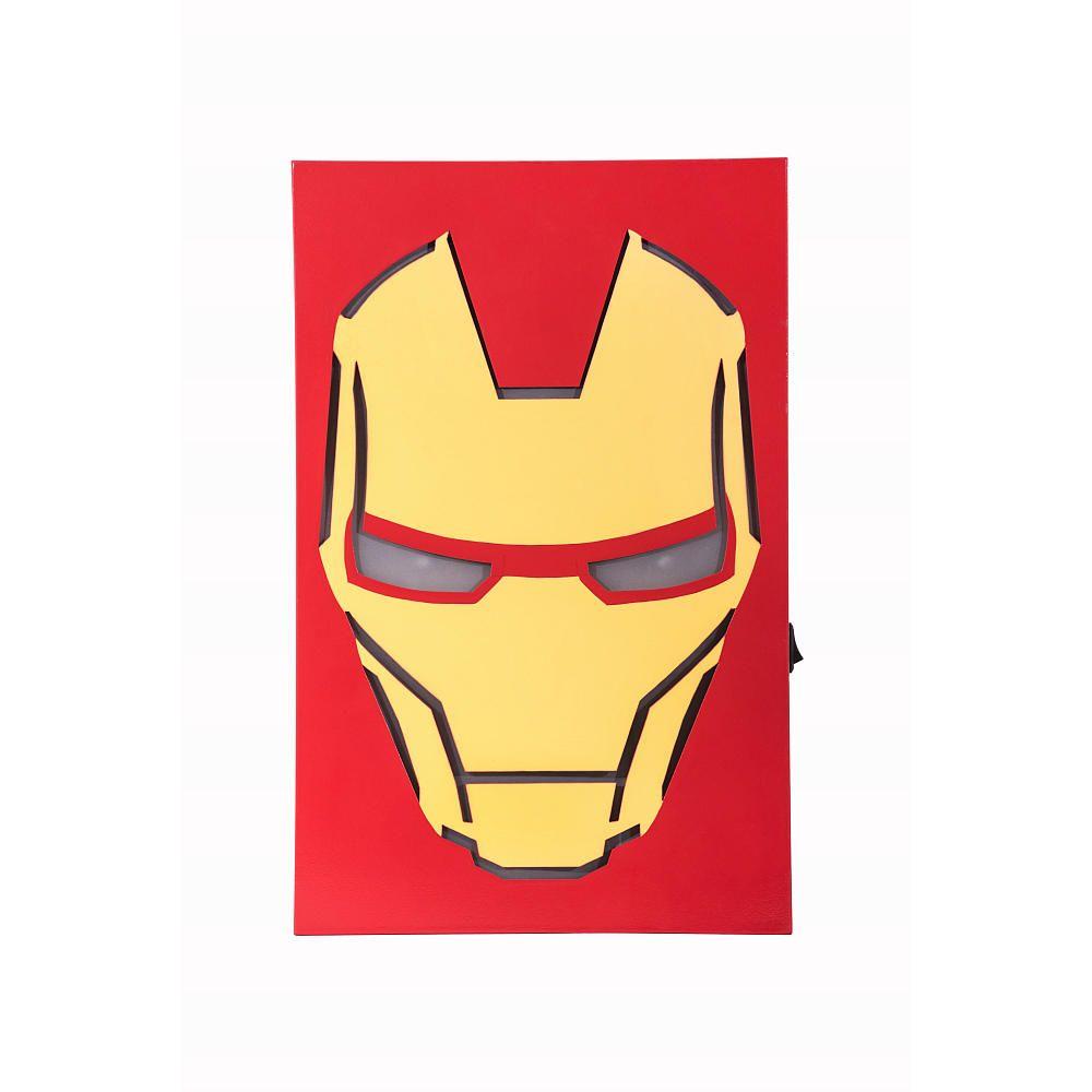 Marvel Iron Man LED Face Box MDF Art | Babies r us, Nursery wall art ...