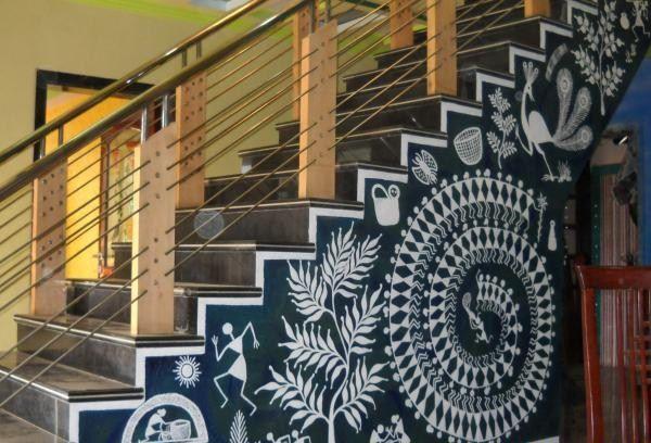 warli wall painting oune | Warli | Pinterest | Paintings ...