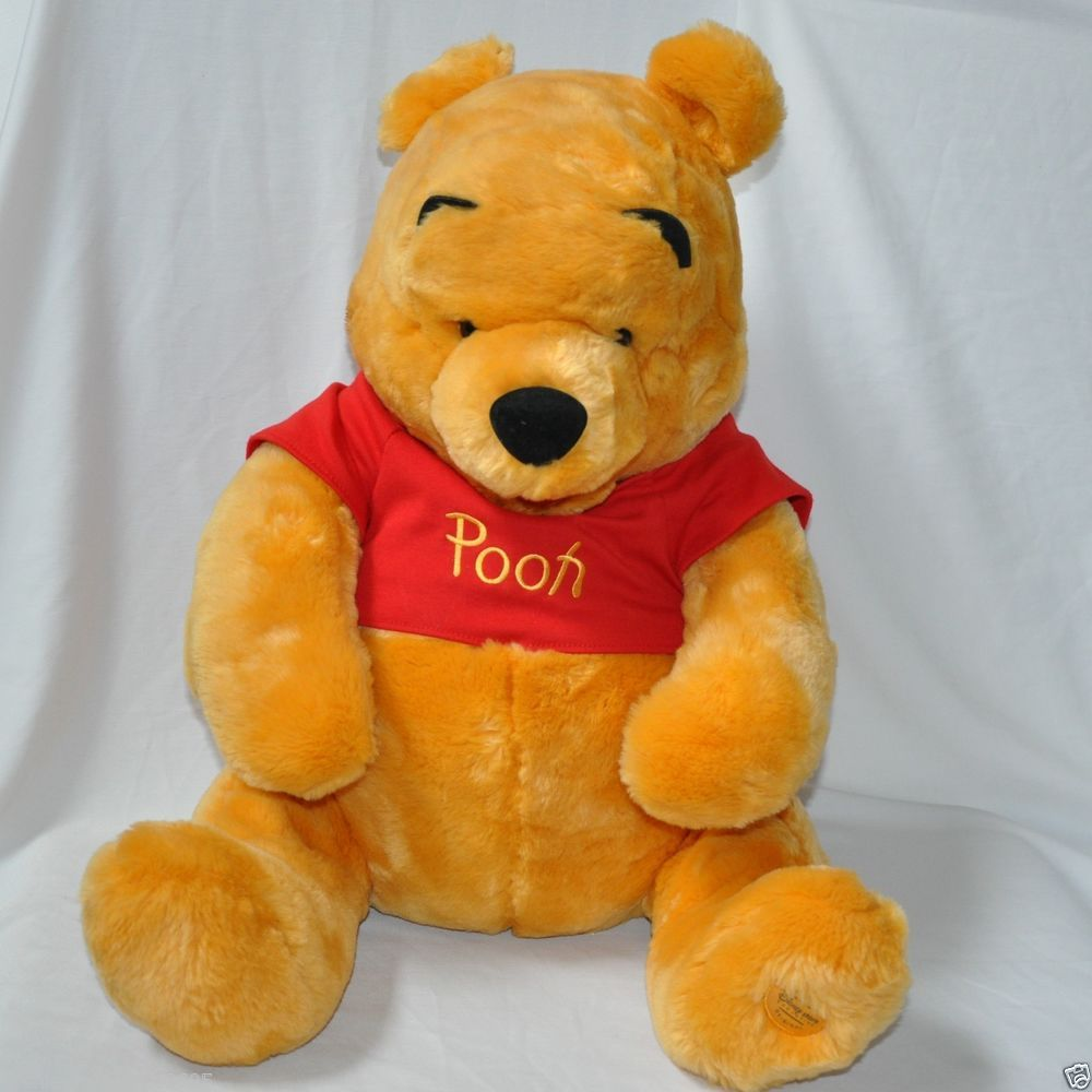 0b9cf7db1a21 Disney Store Exclusive Winnie the Pooh Plush Large Sits 17 inches Stuffed  Animal  Disney