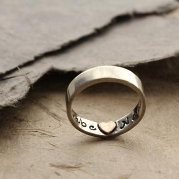 Heart Imprint Personalised Ring A very special handcrafted