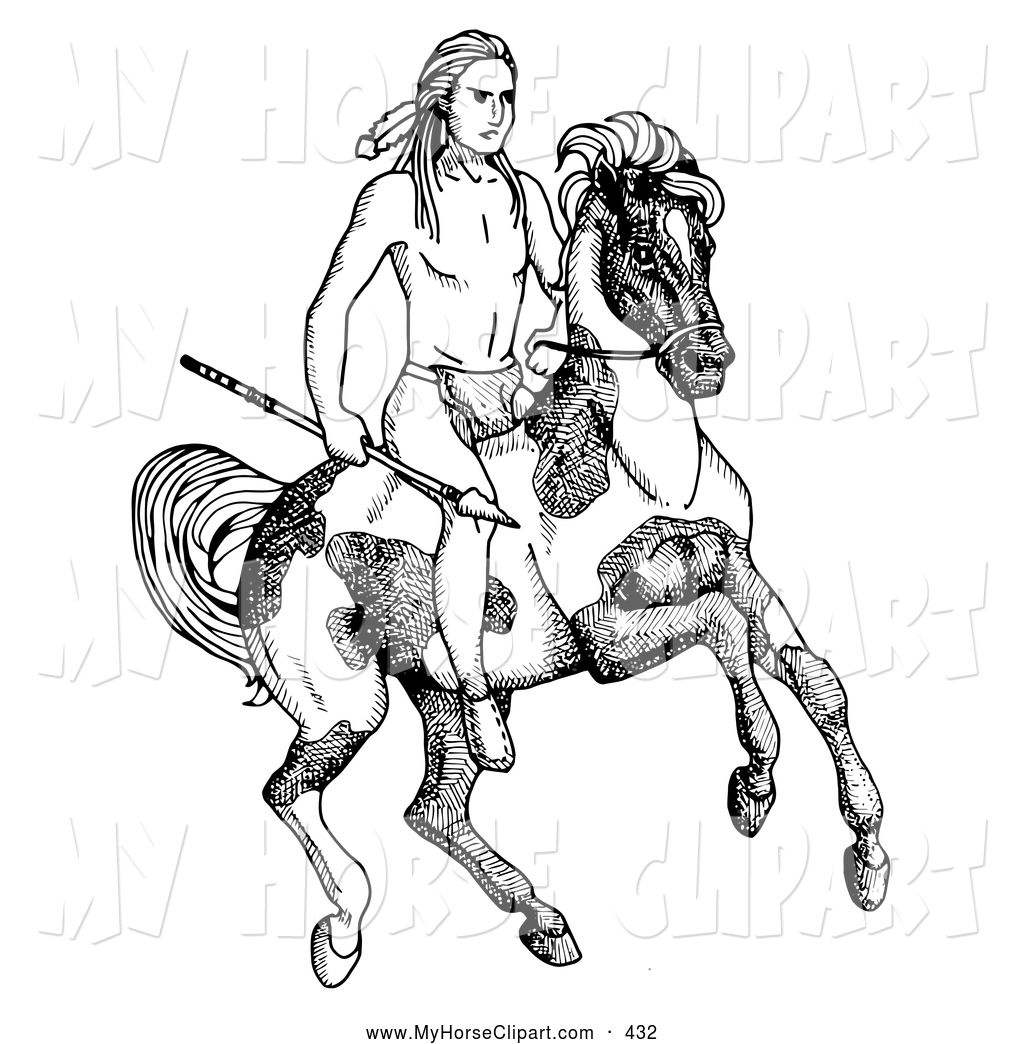 Native American Boy Coloring Page Submited Images Pic2fly Horse Coloring Pages Native American Horses Horse Sketch