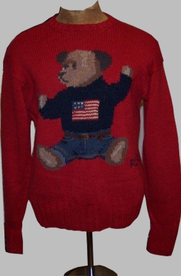 Ralph Lauren Polo 92 Stadium Bear Sweater http://stores