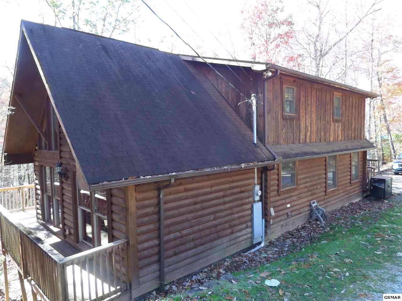 tn twin sale douglas sevierville on lake log pin cabin lakefront duffers in for located available cabins