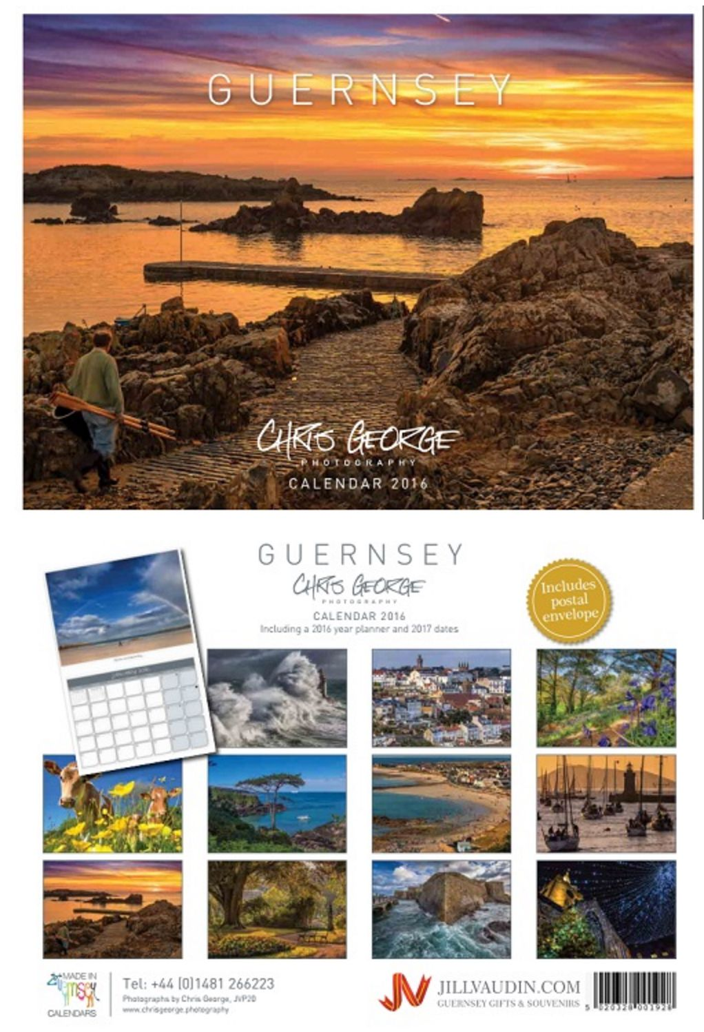 Calendars are now available to buy online! http://www.jillvaudin.com/gsyChrisGeorge.html They are also available from the Press Shop, Lexicon, Guernsey Post, Guernsey Information Centre, Cadeaux at Cobo. Cobo Village centre.