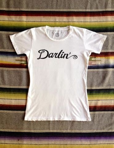 50968ef21d2 Darlin Women s Vintage Tee White Black