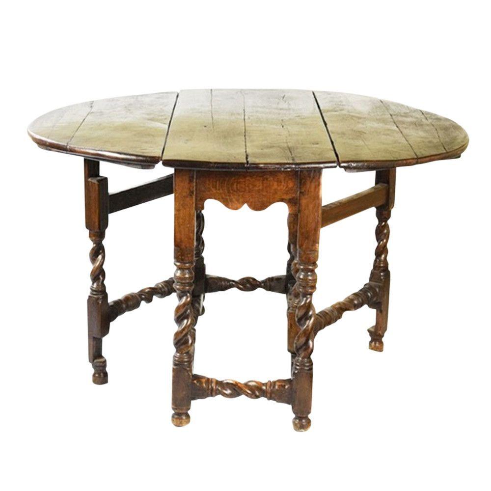 18th Century English Oak Gateleg Table