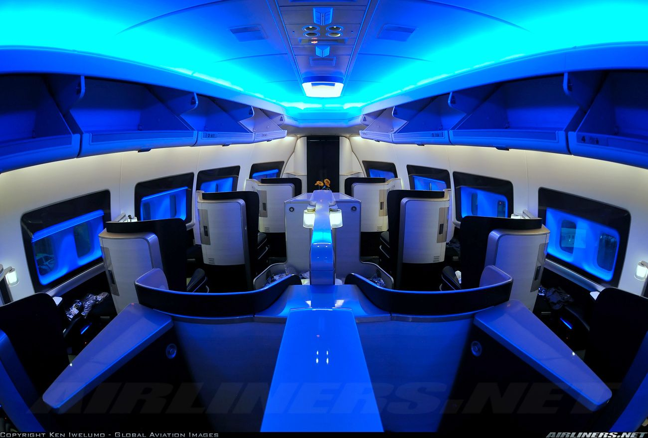 British Airways First Class Cabin for our honeymoon was