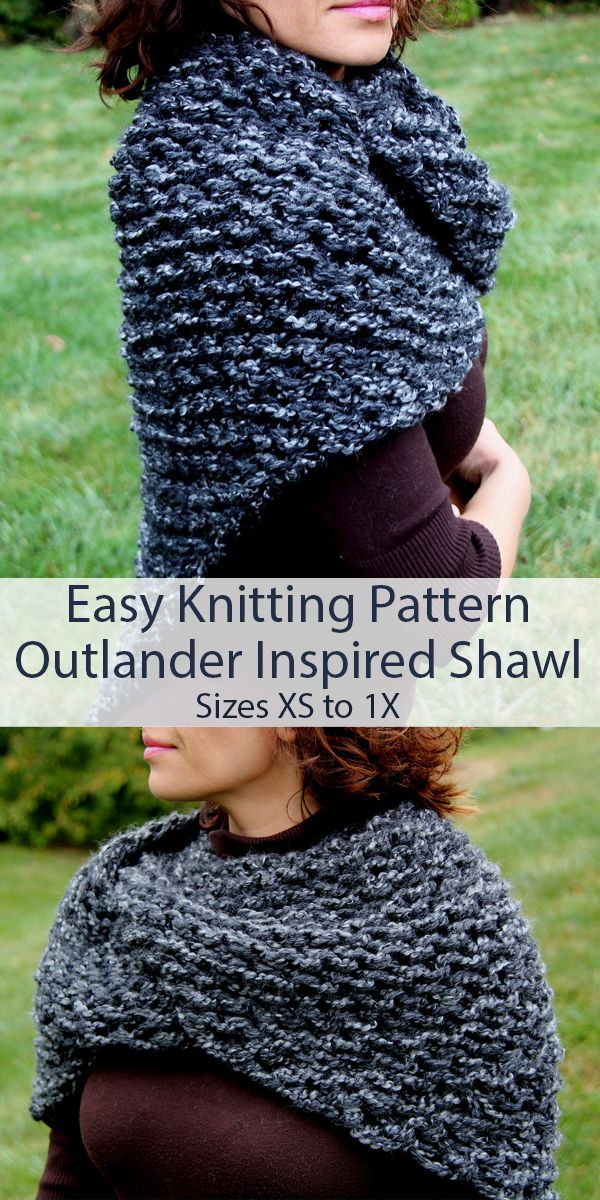Photo of Enkelt strikkeoppskrift for Outlander Sassenach sjal i Super Bulky Garn