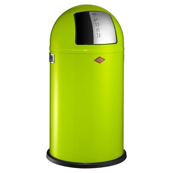 The Wesco Pushboy Bin Is A Bright And Colourful Means To Dispose Of Our  Trash! This Lime Green Modern Kitchen Bin Is Available To Buy From Red  Candy.
