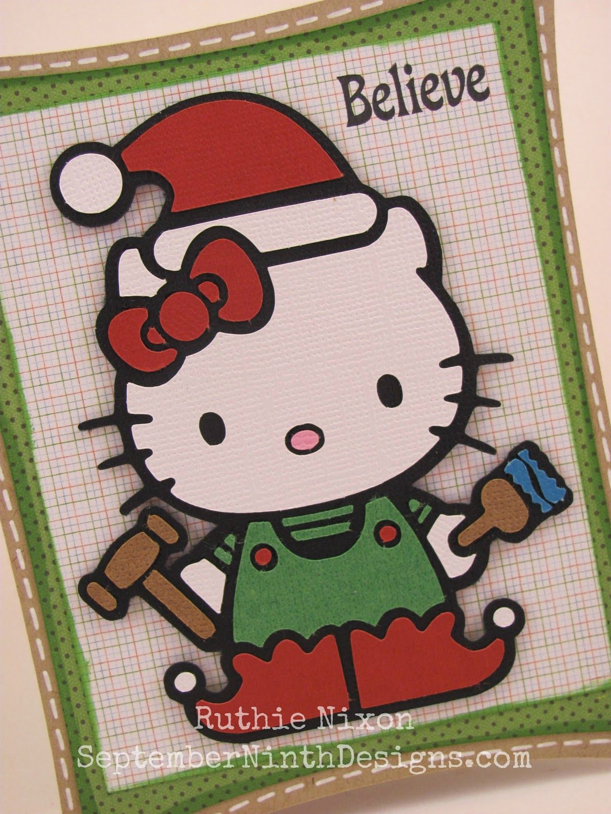 Kitty Elf Free Svg File. #hellokitty #