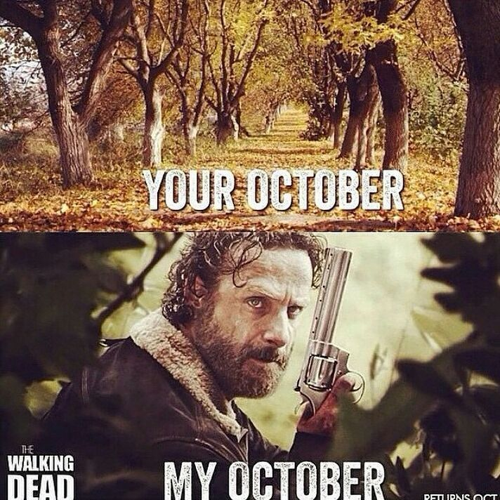 haha yees!  #thewalkingdead #twd #wait #october #three #cantwait by the_walking_dead_crew