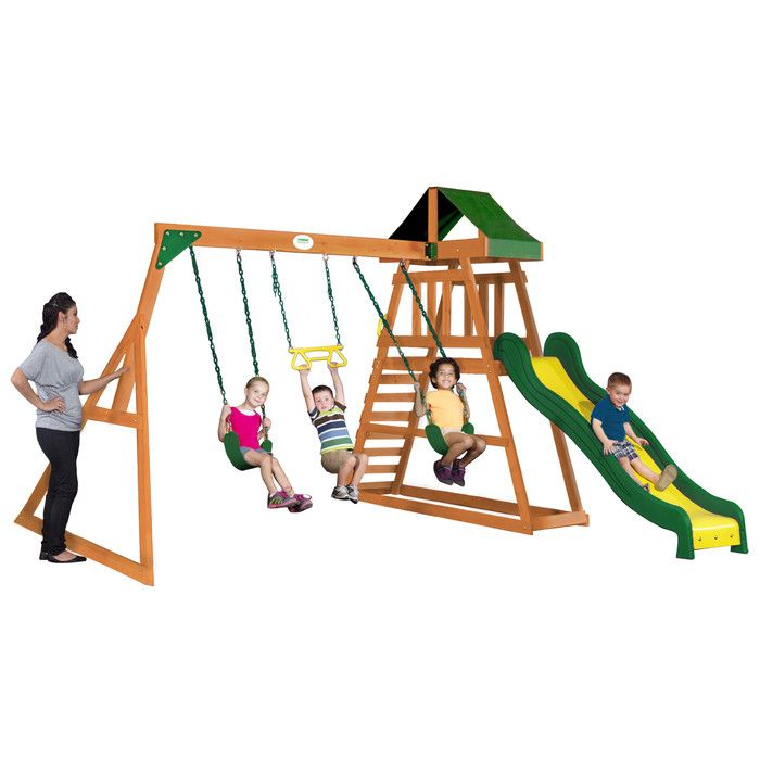 Prescott Swing Set | Cedar swing sets, Swing set, Swing ...
