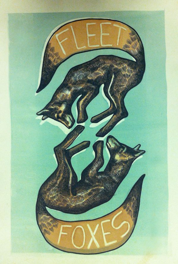 "Fleet Foxes poster wall art home decor photo print 16/"" 24/"" sizes 20/"""