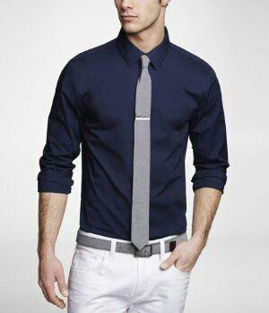 50++ Navy blue dress shirt information