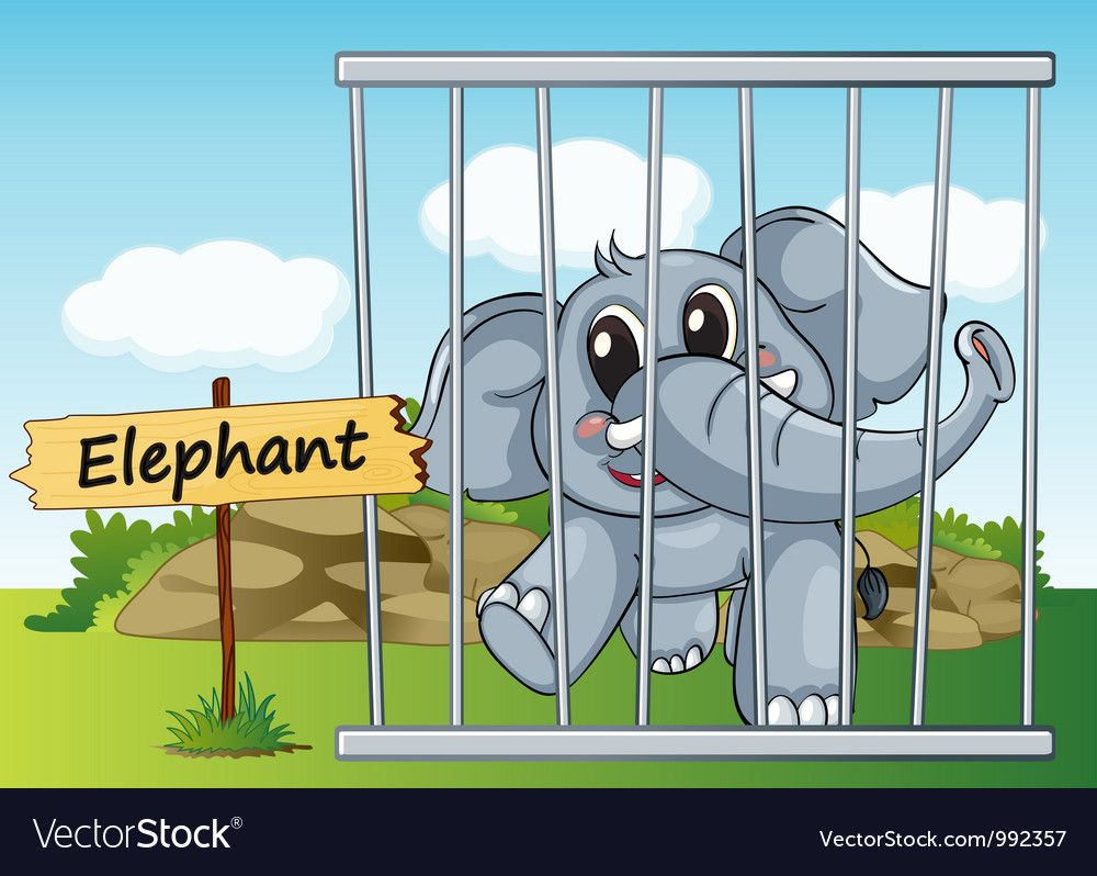 Animals In A Cage With Wooden Sign Download A Free Preview Or High Quality Adobe Illustrator Ai Eps Pdf And High Resolution Jpe Zoo Zoo Animals Illustration