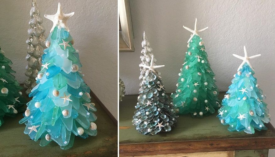 Sea Glass Christmas Tree Christmas Tree Crafts Sea Glass Crafts