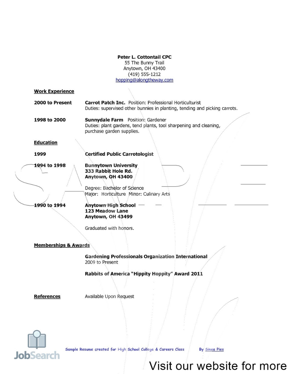 Resume Maker For Students Huroncountychamber Com