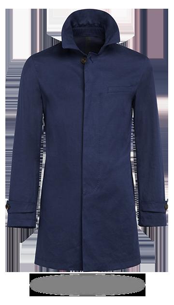 Marinblå Regnrock J431 | Suitsupply Online Store