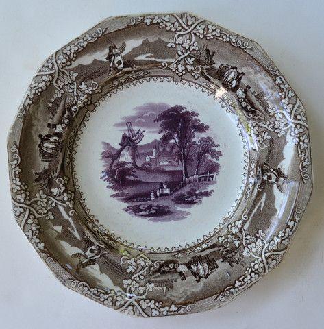 1850/'s antique transferware plate