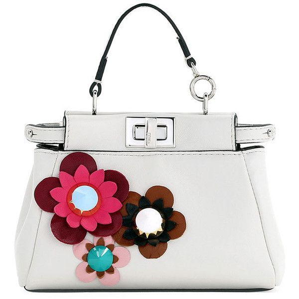 f61b41864e Fendi Micro Peekaboo Floral Satchel Bag ( 1