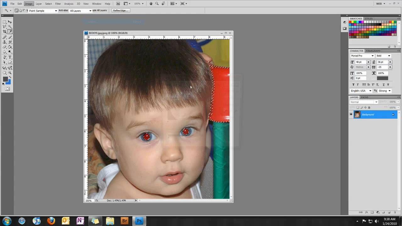 Fix red eye in photoshop cs6