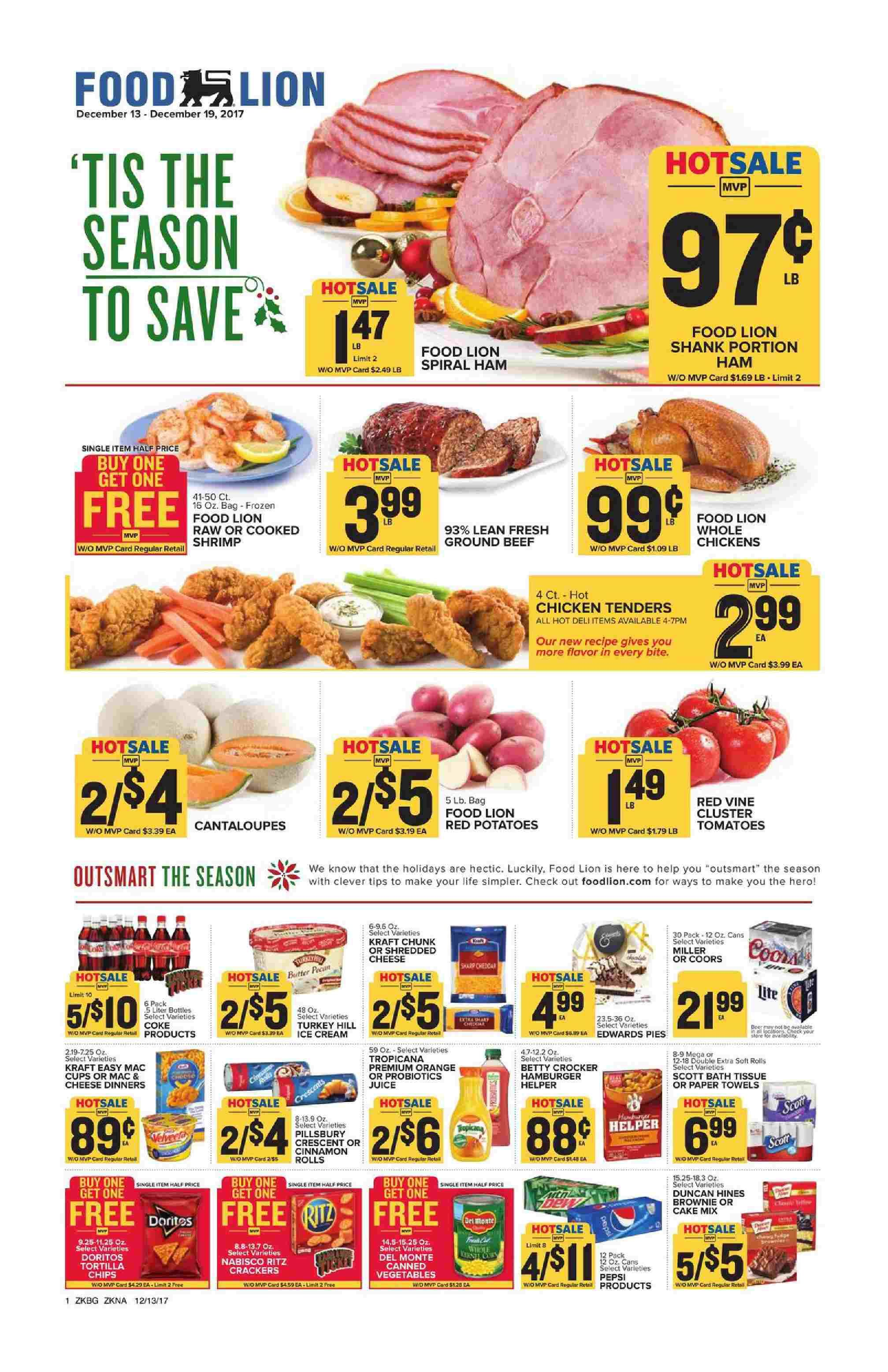Food Lion Weekly Ad December 13 19 2017 Food Lion Grocery