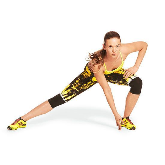 Lateral Lunge: works your abs, butt, and legs