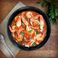 ~ I would like to call this recipe a cioppino. Cioppino is a fish stew with a San Francisco pedigree reaching back to the 1800's. The name is derived from the Italian term ciuppin, which mean…