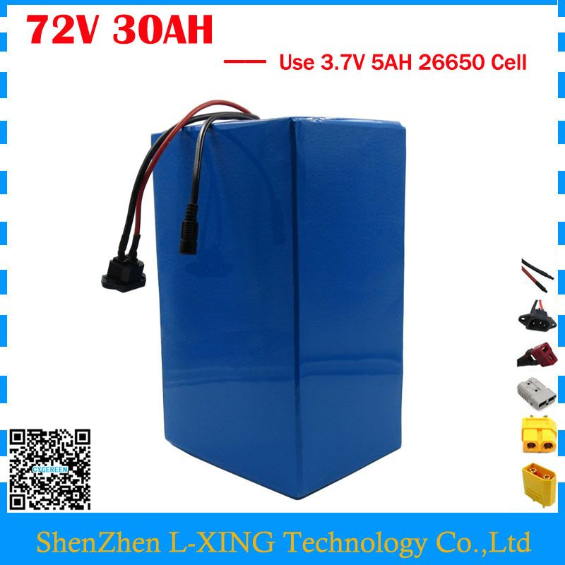 High quality 72V ebike battery 3000W 72V 30AH Lithium