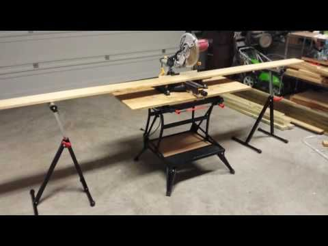 How to make a miter saw bench with your workmate 425 47 how to make a miter saw bench with your workmate 425 47 youtube greentooth Image collections