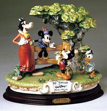 Mickey Donald Clarabelle Cow Capodimonte Disney Laurenz C.O.A. Original Box
