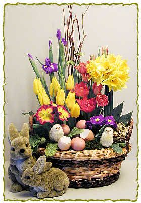 Awesome Bright Spring Easter Flower Arrangement   Dot Com Women Ideas