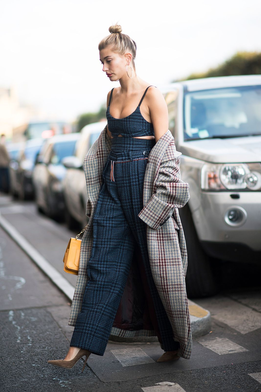 The Best Street Style At Paris Fashion Week SS17 #refinery29  http://www.refinery29.uk/2016/10/124657/street-style-paris-fashion-week-ss17#slide-28  From Haider Ackermann to Isabel Marant, we're all about Hailey Baldwin's coat choices for PFW....