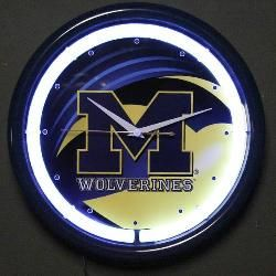 Michigan Wolverines Plasma Wall Clock