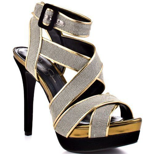 43aa7a54d694 Buy JESSICA SIMPSON EVANGELA SILVER WOMENS ANKLE WRAP Size 9M and other  Sandals at Amazon.com. Our wide selection is eligible for free shipping and  free ...