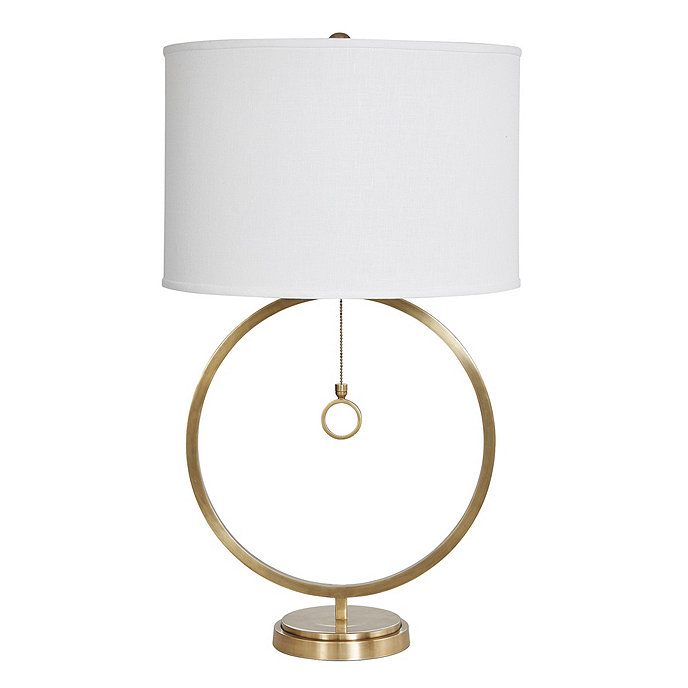 Avery Ring Antique Brass Table Lamp Base Shade Brass Table Lamps Table Lamp Table Lamp Base