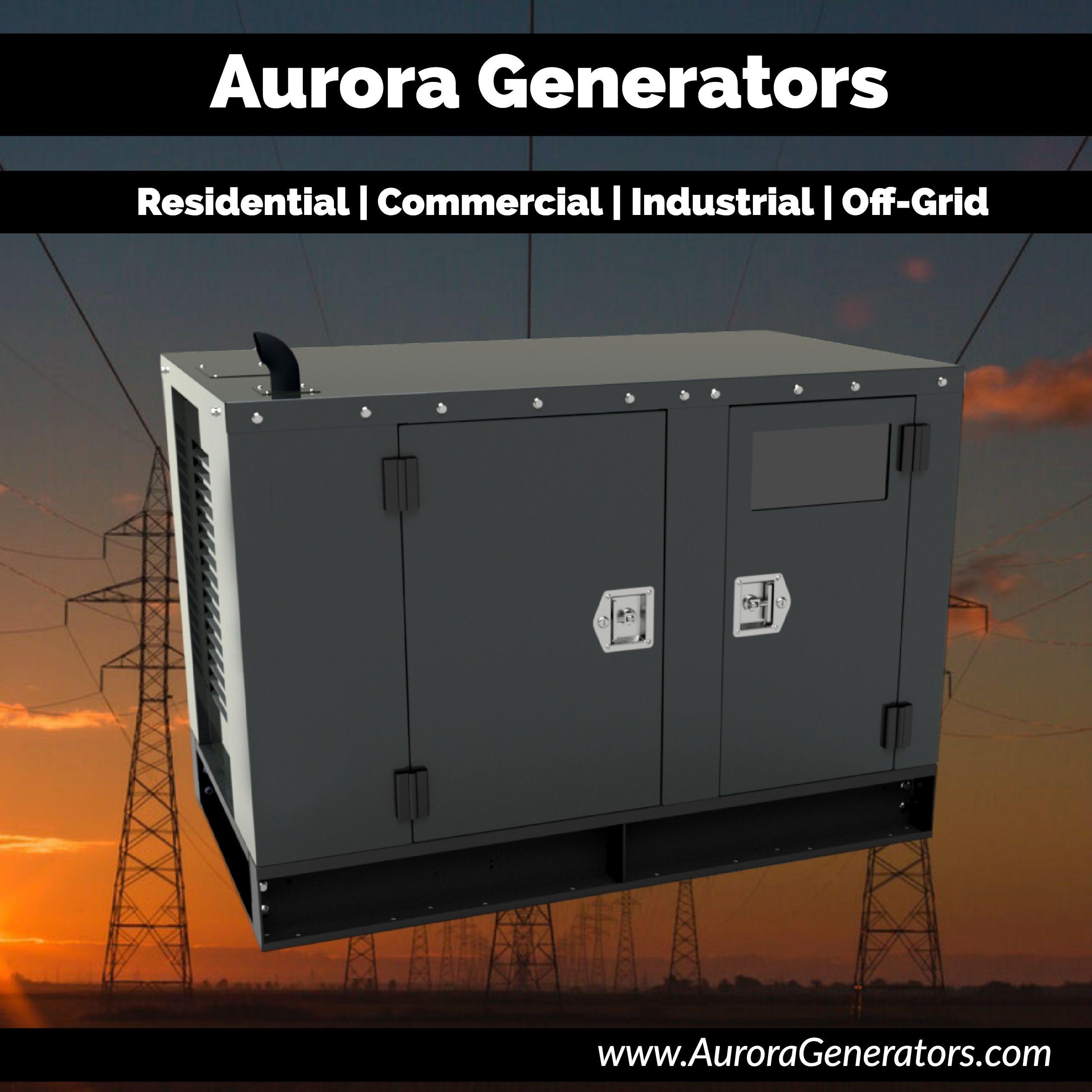 Quiet Clean Long Lasting Diesel Generators Aurora Generators Are Powered By Perkins Engines Pow Diesel Generators Generator House Locker Storage