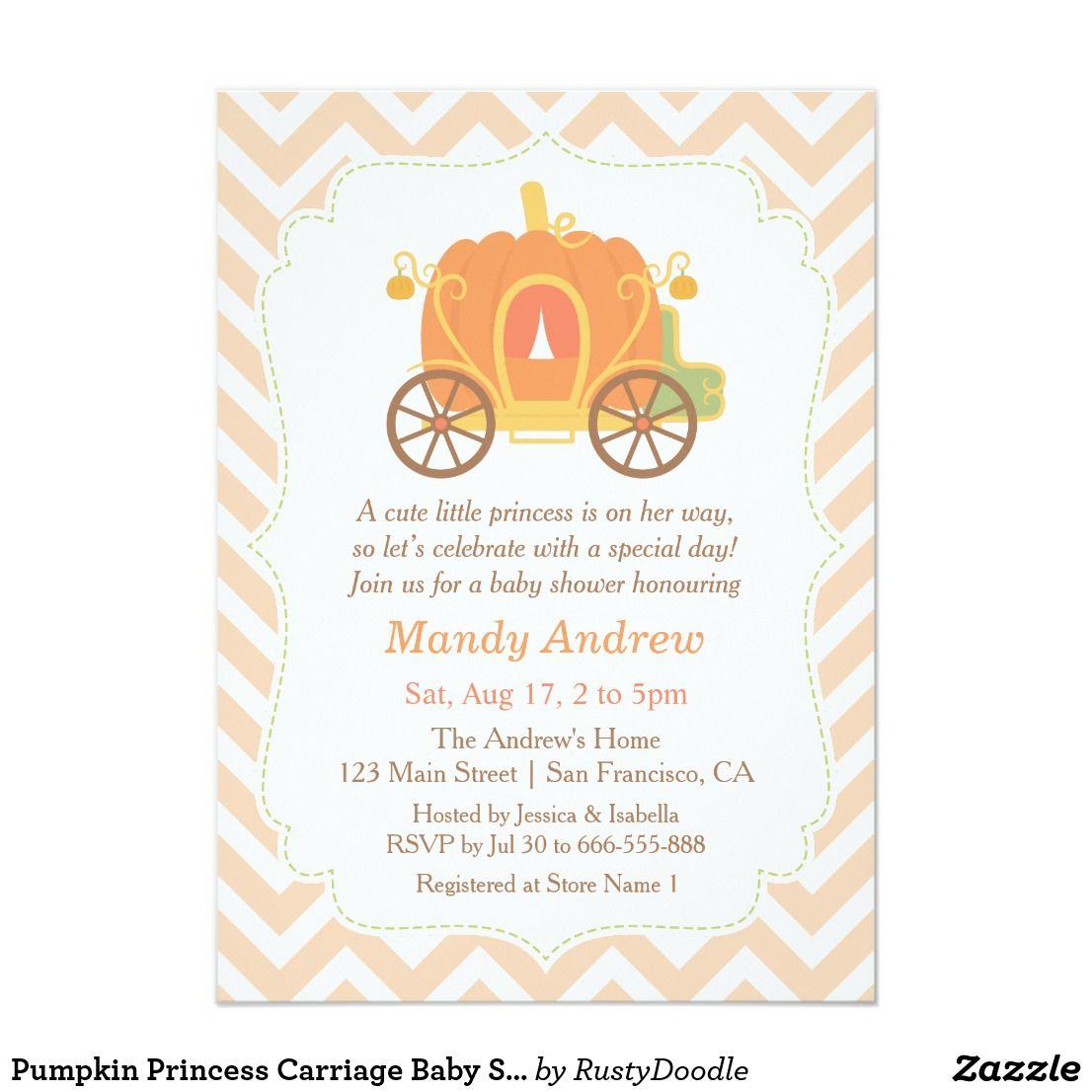Pumpkin Princess Carriage Baby Shower