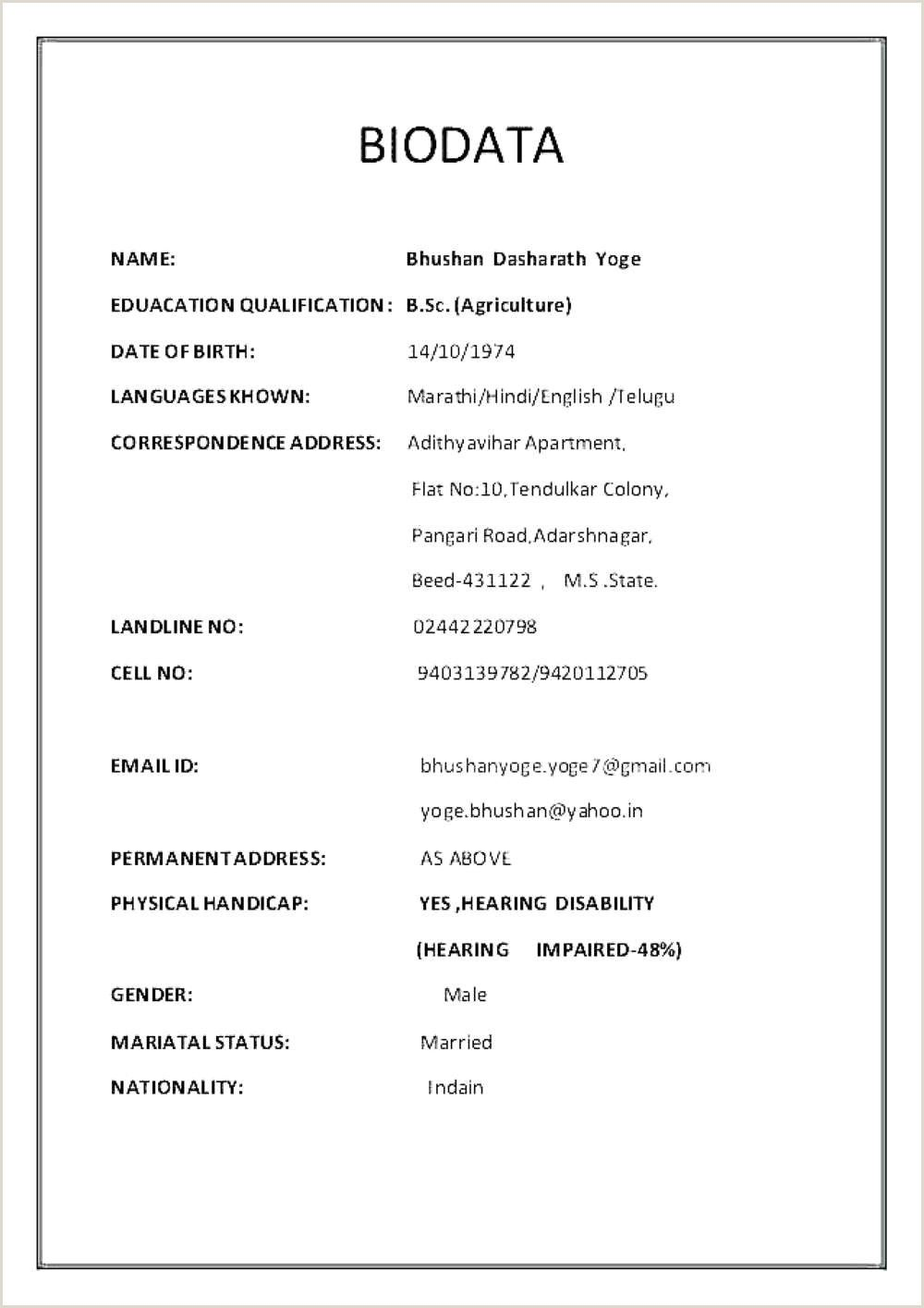 Bsc Fresher Resume Format Download Pdf Bsc Fresher Resume Format