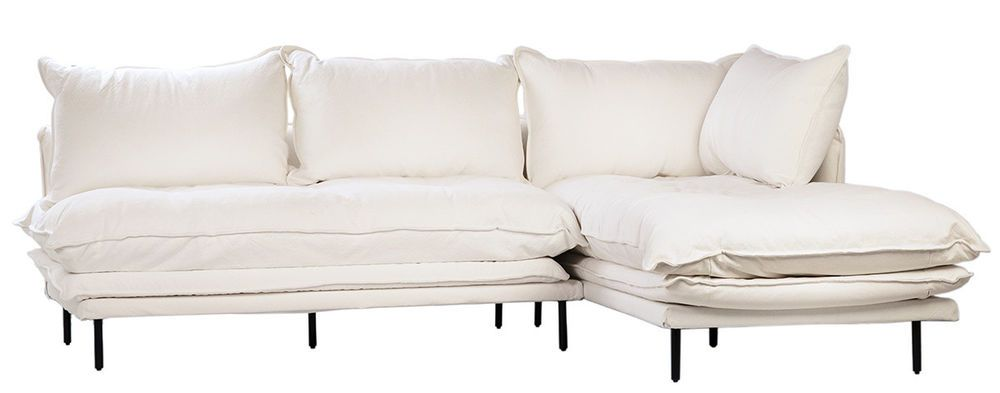 98 Shabby Chic Benyon L Shape Sofa Modern Iron Legs White Linen Slipcover Shabbychic Traditional Shabby Chic Furniture Furniture Modern Sofa